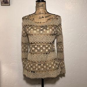 True Grit lace blouse, size medium